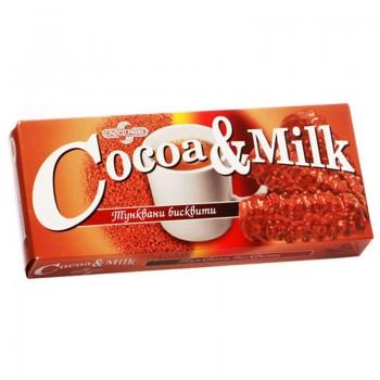 Бисквити Тунквани Какао и Мляко 150 гр.