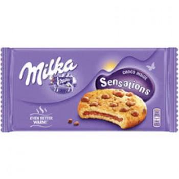 Бисквити Milka Cookies Sensation с Пълнеж 156 гр.