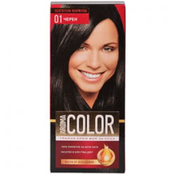 Боя за Коса Aroma Color 01 Черен 45 мл.