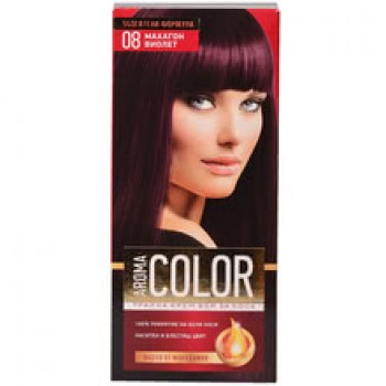 Боя за Коса Aroma Color 08 Махагон Виолет 45 мл.
