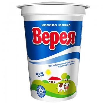 Кисело Мляко Верея 4,5% 400 гр.