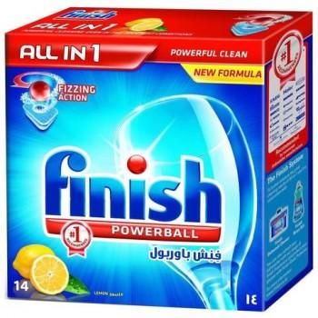 Таблетки за Съдомиялна Finish Calgonit Powerball All in one Лимон 14 бр. 288 гр.