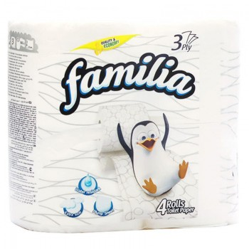 Тоалетна Хартия Familia Бяла 4 бр.