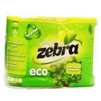 Тоалетна Хартия Zebra Еко 4 бр.