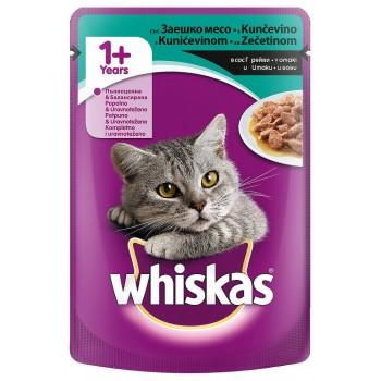 Храна за Котки Whiskas Пауч със Заешко Месо 100 гр.