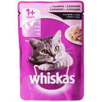 Храна за Котки Whiskas Пауч със Сьомга 100 гр.