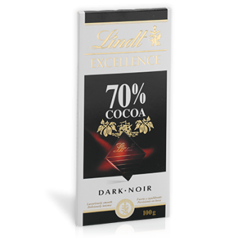 Шоколад Lindt Excellence Cocoa 70% 100 гр.