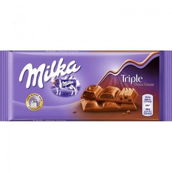 Шоколад Milka Трипъл Шоколад 90 гр.