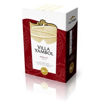 Червено Вино Мерло Вила Ямбол 3 л.