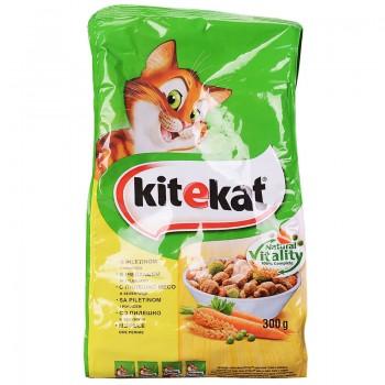 Храна за Котки Kitekat Пилешко и Зеленчуци 300 гр.