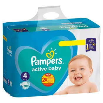 Пелени Pampers Active Baby Размер 4 9-14 кг. 1 бр.