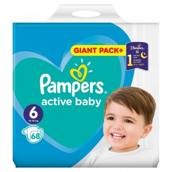 Пелени Pampers Active Baby Размер 6 13-18 кг. 1 бр.