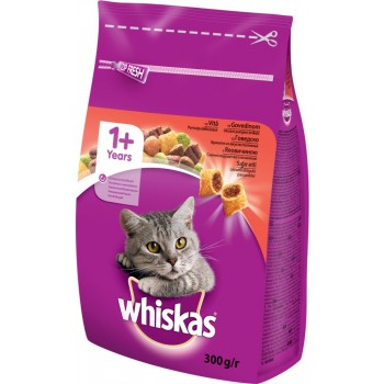 Храна за Котки Whiskas с Говеждо Месо 300 гр.