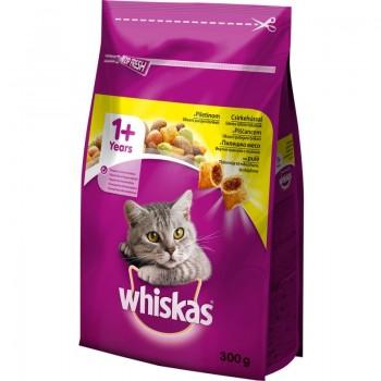 Храна за Котки Whiskas с Пилешко Месо 300 гр.